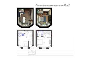 Продается 1-комнатная квартира 51.05 кв. м в Броварах