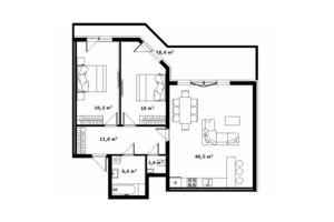Продается 2-комнатная квартира 97.6 кв. м в Ужгороде