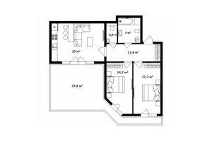 Продается 2-комнатная квартира 86.5 кв. м в Ужгороде