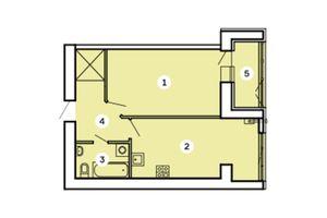 Продается 1-комнатная квартира 49.35 кв. м в Запорожье