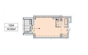 Продается 1-комнатная квартира 34.62 кв. м в Днепре