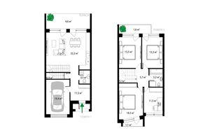 Продается дом на 2 этажа 157 кв. м с подвалом