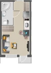 Продается 1-комнатная квартира 23 кв. м в Одессе