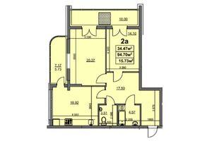 Продается 2-комнатная квартира 90.06 кв. м в Черкассах