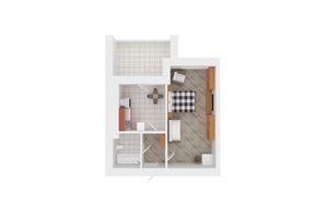 Продается 1-комнатная квартира 51 кв. м в Киево-Святошинске