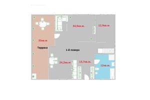 Продается дом на 2 этажа 251 кв. м с камином