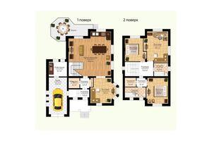 Продается дом на 2 этажа 231.7 кв. м с балконом