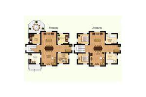 Продается дом на 2 этажа 253.7 кв. м с балконом