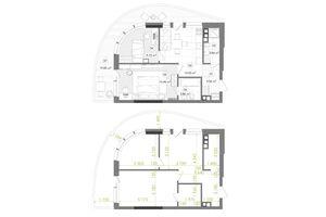 Продается 2-комнатная квартира 58.83 кв. м в Киеве
