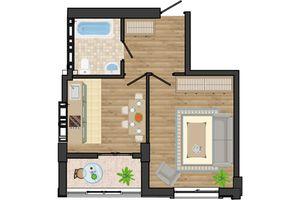 Продается 1-комнатная квартира 38.98 кв. м в Одессе