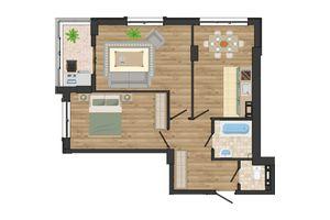 Продается 2-комнатная квартира 62.19 кв. м в Одессе