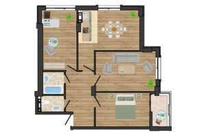 Продается 3-комнатная квартира 77.96 кв. м в Одессе