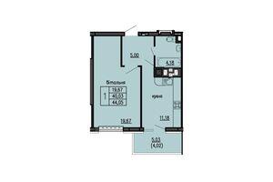 Продається 1-кімнатна квартира 44.05 кв. м у Тернополі