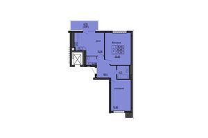 Продається 2-кімнатна квартира 71.53 кв. м у Тернополі