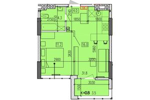 Продається 1-кімнатна квартира 39.6 кв. м у Дніпрі