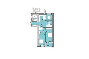 Продається 2-кімнатна квартира 76.51 кв. м у Тернополі