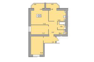 Продається 3-кімнатна квартира 85.54 кв. м у Хмельницькому