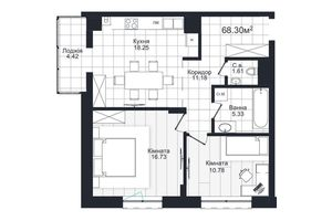 Продается 2-комнатная квартира 68.3 кв. м в Черновцах