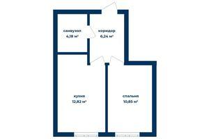 Продается 1-комнатная квартира 32.62 кв. м в Киеве