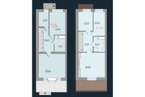 Продается дом на 2 этажа 154.98 кв. м с бассейном