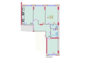 Продается 3-комнатная квартира 78.09 кв. м в Черноморске