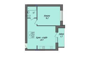 Продається 1-кімнатна квартира 51.5 кв. м у Тернополі