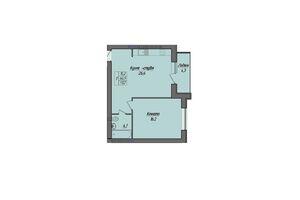 Продається 1-кімнатна квартира 51.2 кв. м у Тернополі