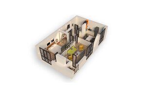 Продається 2-кімнатна квартира 57.01 кв. м у Ірпені
