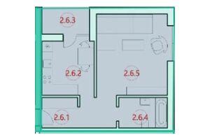 Продається 1-кімнатна квартира 40.1 кв. м у Тернополі