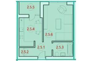 Продається 1-кімнатна квартира 34.1 кв. м у Тернополі
