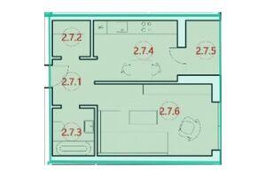 Продається 1-кімнатна квартира 38.6 кв. м у Тернополі