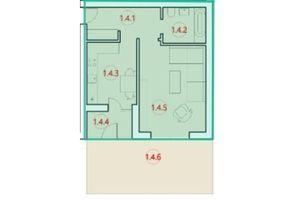 Продається 1-кімнатна квартира 48.2 кв. м у Тернополі