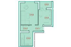 Продається 1-кімнатна квартира 45.7 кв. м у Тернополі