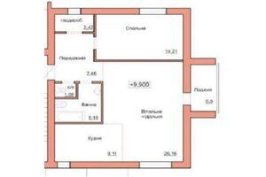 Продается 2-комнатная квартира 72 кв. м в Житомире