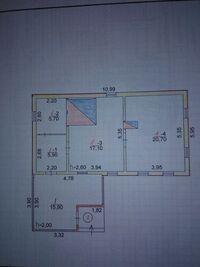 Продается одноэтажный дом 65 кв. м с балконом