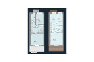 Продається будинок 2 поверховий 154.98 кв. м з мансардою
