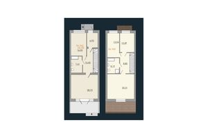 Продается дом на 2 этажа 151.93 кв. м с камином