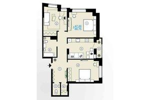 Продается 3-комнатная квартира 86.75 кв. м в Харькове