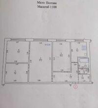 Продається 4-кімнатна квартира 59 кв. м у Полтаві