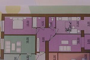 Продается 2-комнатная квартира 62 кв. м в Ивано-Франковске