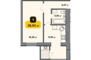 Продается 1-комнатная квартира 38.5 кв. м в Хмельницком