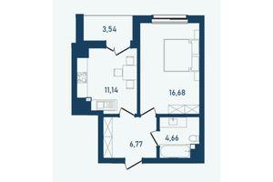 Продается 3-комнатная квартира 43.8 кв. м в Черновцах