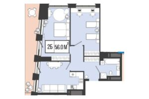 Продається 2-кімнатна квартира 55.5 кв. м у Дніпрі
