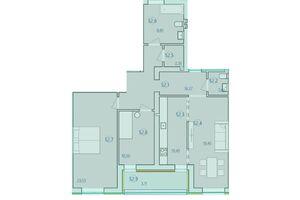 Продається 3-кімнатна квартира 97.45 кв. м у Тернополі