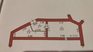 Продається нежитлове приміщення в житловому будинку 23 кв. м в 2-поверховій будівлі