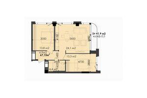 Продается 2-комнатная квартира 65.25 кв. м в Днепре