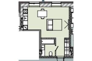 Продается 1-комнатная квартира 30.57 кв. м в Запорожье