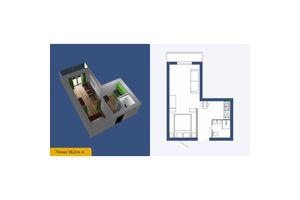 Продається 1-кімнатна квартира 32.2 кв. м у Кропивницькому