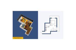 Продається 1-кімнатна квартира 43.5 кв. м у Кропивницькому