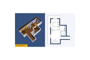 Продається 1-кімнатна квартира 55.3 кв. м у Кропивницькому